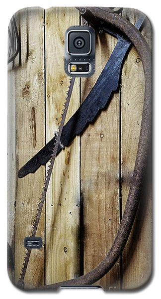 Hack Saw On Barn Wall Galaxy S5 Case