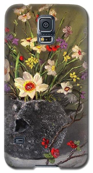 Handbuilt Pufferfish Teapot With Spring Flowers Galaxy S5 Case