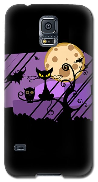 Happy Halloween Cat Galaxy S5 Case