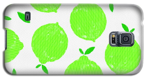 Happy Lime Print Galaxy S5 Case