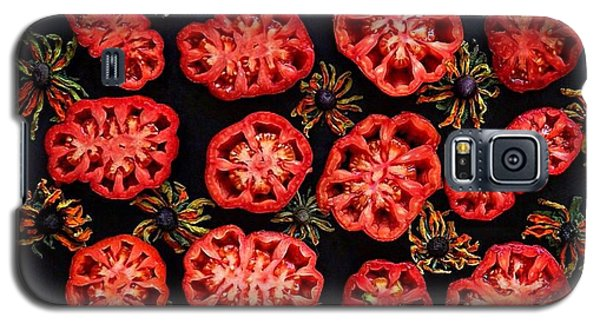 Heirloom Tomato Grid Galaxy S5 Case