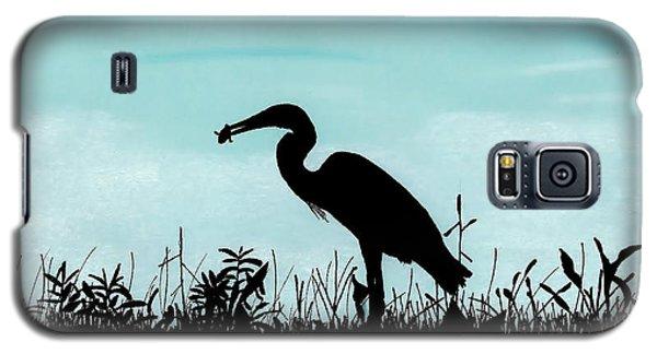 Heron Has Supper Galaxy S5 Case
