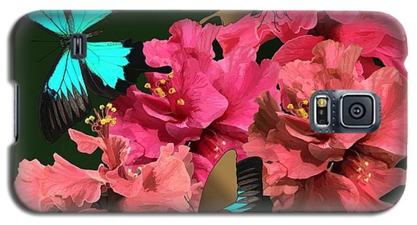 Hibiscus Butterfly Joy Galaxy S5 Case
