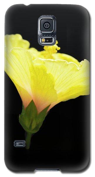 Hibiscus In Black Galaxy S5 Case