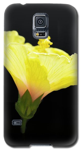 Hibiscus In Black Galaxy S5 Case
