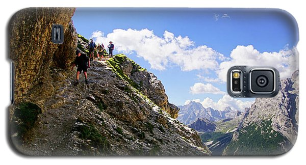 Hikers On Steep Trail Up Monte Piana Galaxy S5 Case