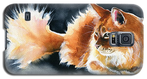 Holy Ginger Fluff - Cat Painting Galaxy S5 Case
