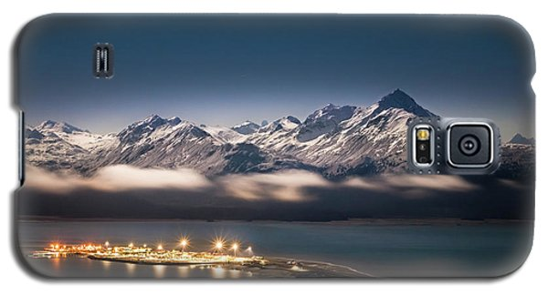 Homer Spit With Moonlit Mountains Galaxy S5 Case