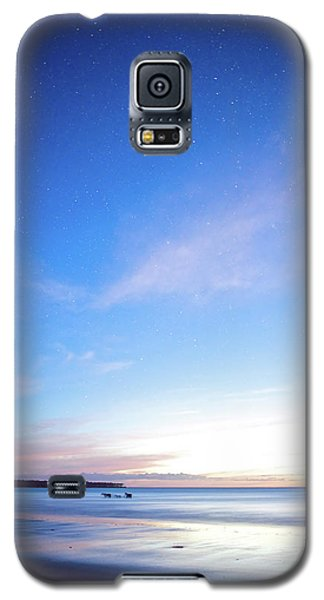 Horses Play In The Surf At Twilight Galaxy S5 Case