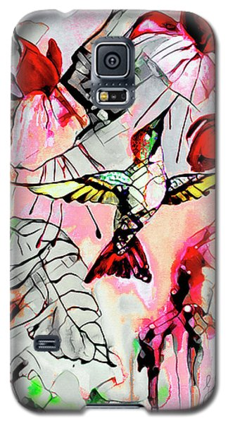 Hummingbird Abstract Modern Bird Art Galaxy S5 Case