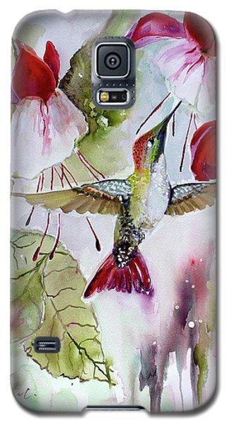 Hummingbird And Flowers Galaxy S5 Case