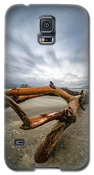 Hurricane Florence Beach Log - Portrait Galaxy S5 Case