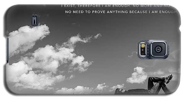 Galaxy S5 Case featuring the digital art I Am Enough - Part 4 by ISAW Company