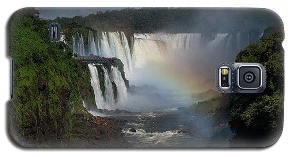 Iguazu Falls With A Rainbow Galaxy S5 Case