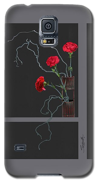 Red Carnations And Bamboo Vase Galaxy S5 Case
