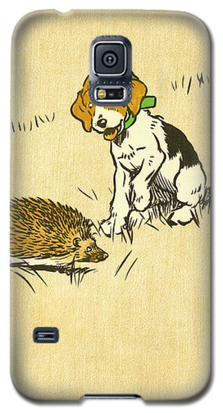 Puppy And Hedgehog, Illustration Of Galaxy S5 Case