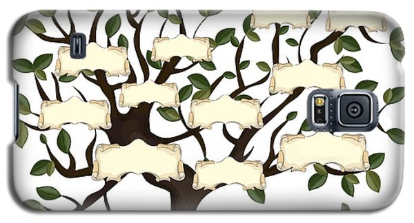 Branch Galaxy S5 Case - Illustration Of Family Tree With by Gordana Simic