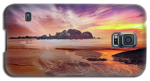 Incoming Tide At Sunset Galaxy S5 Case