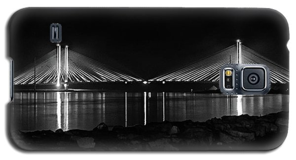 Indian River Bridge After Dark In Black And White Galaxy S5 Case