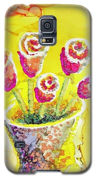 Jaunty Rosebuds Galaxy S5 Case
