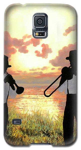 Trumpet Galaxy S5 Case - Jazz Al Tramonto by Guido Borelli
