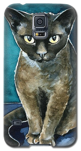 Joey - Devon Rex Cat Painting Galaxy S5 Case