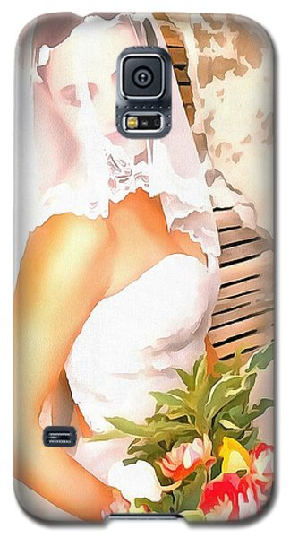 Galaxy S5 Case featuring the painting June Bride by Catherine Lott