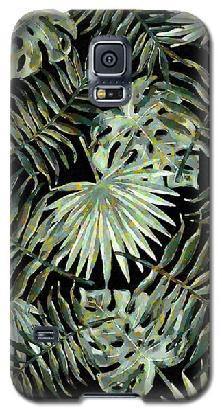 Jungle Dark Tropical Leaves Galaxy S5 Case