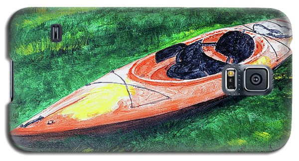 Kayak In The Grass Galaxy S5 Case