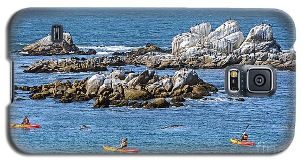 Kayakers Experience Bird Rock At Pacific Grove Galaxy S5 Case