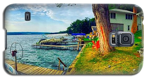 Keuka Lake Mornings Panorama Galaxy S5 Case