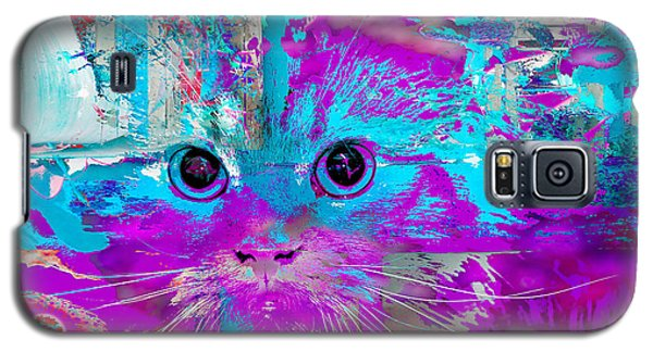 Kitty Collage Blue Galaxy S5 Case