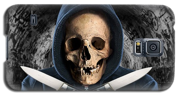 Galaxy S5 Case featuring the digital art Knife Crime Part 2 - The Next Victim by ISAW Company