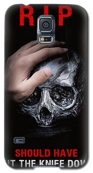 Galaxy S5 Case featuring the digital art Knife Crime Part 3 - Rest In Peace by ISAW Company