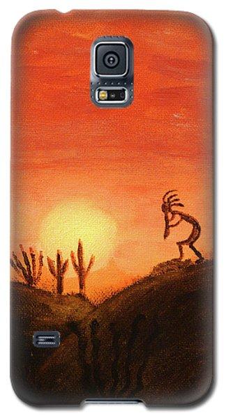 Kokopelli's Sunset Song Galaxy S5 Case