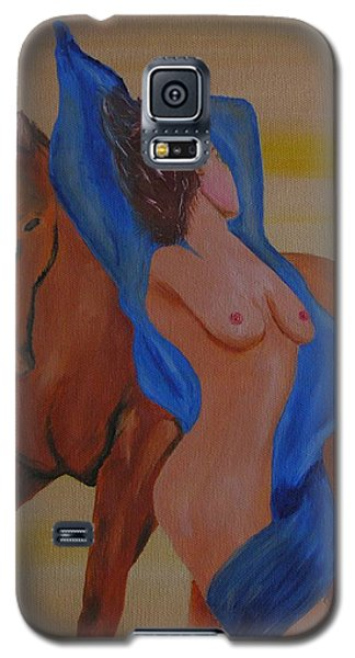 Lady And Horse Galaxy S5 Case