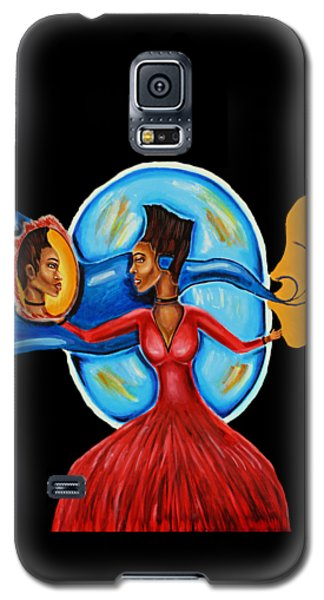 African Goddess Lady In Red Afrocentric Art Mother Earth Black Woman Art Galaxy S5 Case