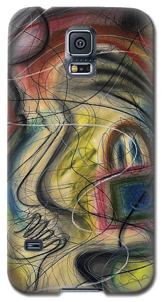 Lady With Purse Galaxy S5 Case