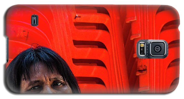 Lady With Red Chairs Galaxy S5 Case