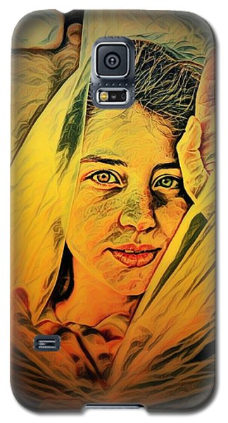 Lady Wrapped In Strings Galaxy S5 Case