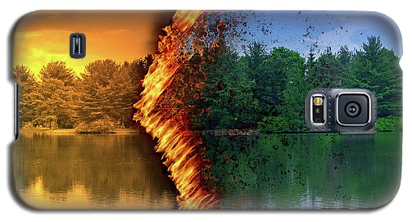Lake Forest Fire Galaxy S5 Case
