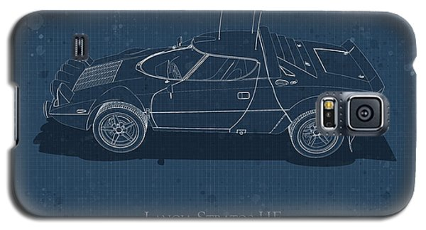 Lancia Stratos Hf - Side View - Stained Blueprint Galaxy S5 Case