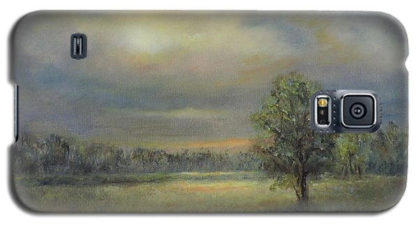 Landscape Of A Meadow With Sun And Trees Galaxy S5 Case