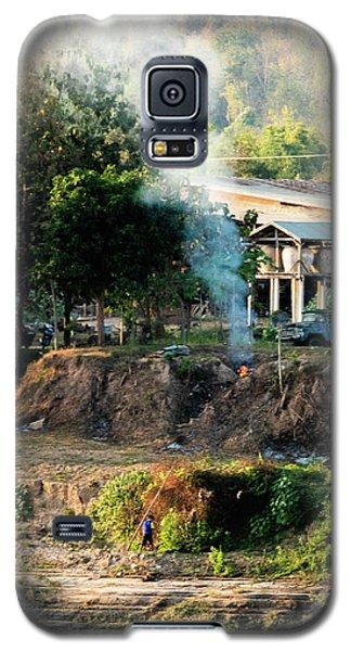 Laos Riverside Scene  Galaxy S5 Case