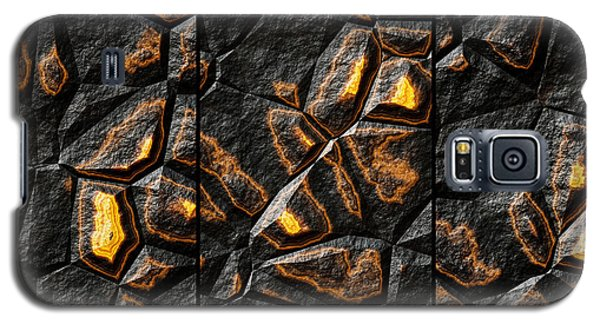 Large Gold Stone Triptych Galaxy S5 Case
