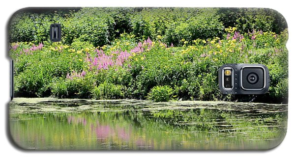 Lavender And Gold Reflections At Chicago Botanical Gardens Galaxy S5 Case
