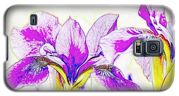 Lavender Irises Galaxy S5 Case