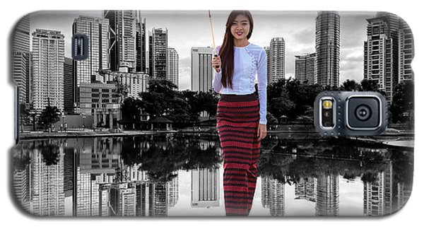 Galaxy S5 Case featuring the digital art Let The City Be Your Stage by ISAW Company