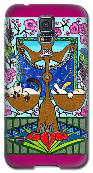 Libra Cat Zodiac Galaxy S5 Case