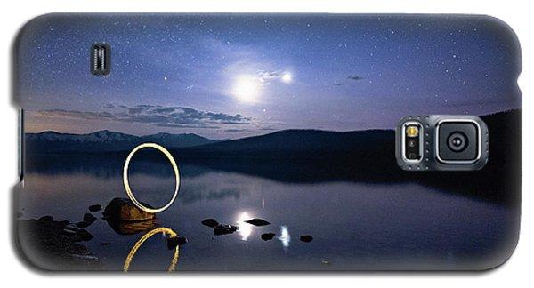 Light Painting Lake Mcdonald Galaxy S5 Case